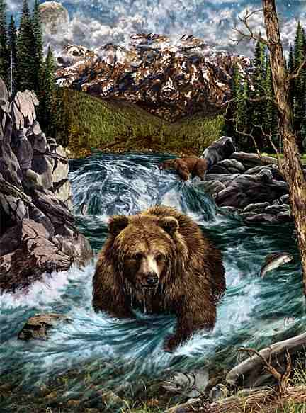 Hidden 14 bear images by Stephen Michael Gardner will expand your mind and balance your brain hemispheres.