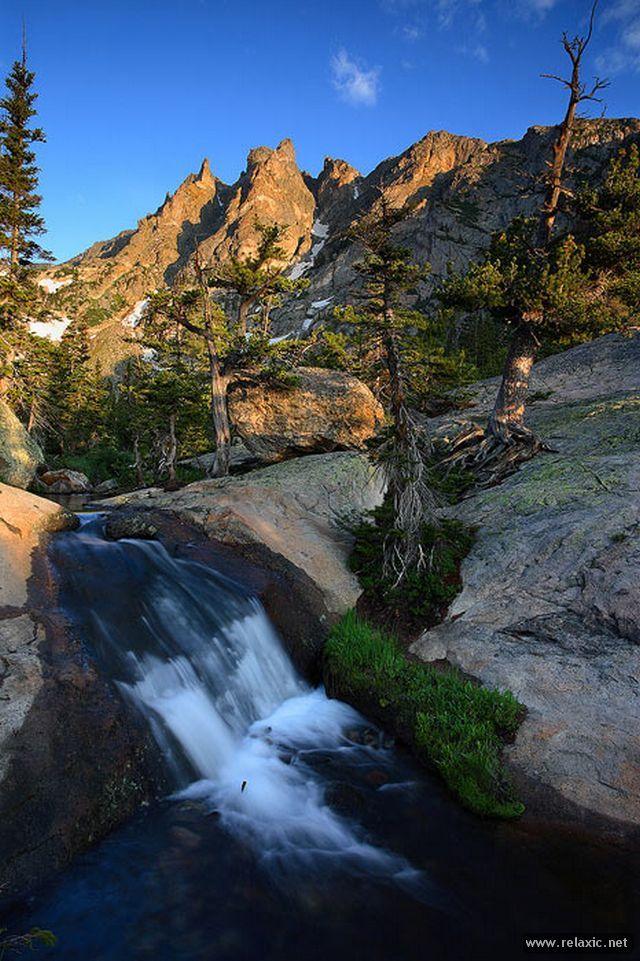 Morning Cascade: Emerald Lake Trail - Rocky Mountain National Park, Colorado, by Nate Zeman