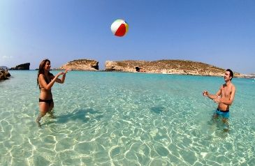 The Blue Lagoon, Comino. #Comino is a tiny island located between #Malta and #Gozo. It is synonymies for its' #CrystalClearWaters over white sand excellent for #snorkelers, #divers and #day-trippers.
