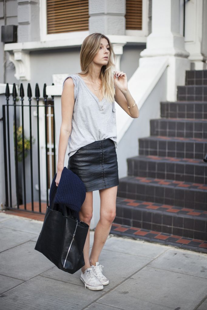 46 best images about How to wear: leather/pleather skirt on ...