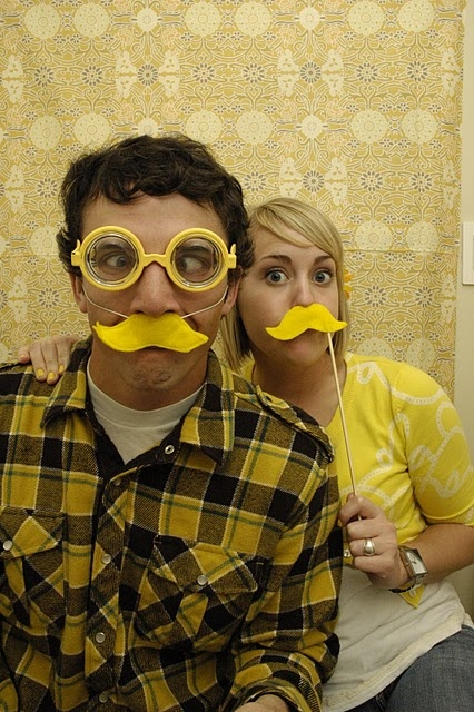 Yellow party photobooth