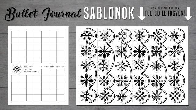 SABLON - BULLET JOURNAL [MAGYAR] DECEMBER