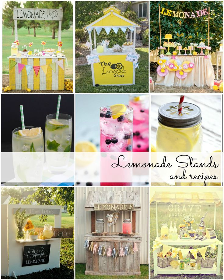 Lemonade Stands and Lemonade Recipes-Summer Ideas | theidearoom.net