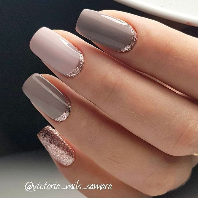 10 Elegant Rose Gold Nail Designs: Rose Gold Jewelry, Nail Polish, Shoes And More Ideas How