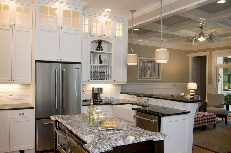 Find any Living Room Kitchen Beach With Great Room Coffered Ceiling and product by http://www.southernstudio.com