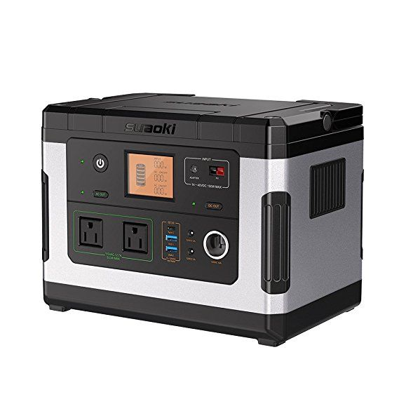 Suaoki G500 Portable Power Station 500wh Solar Generator Quiet Lithium Rechargeable Power Supply With 3 In 2020 Portable Solar Generator Solar Generator Portable Power