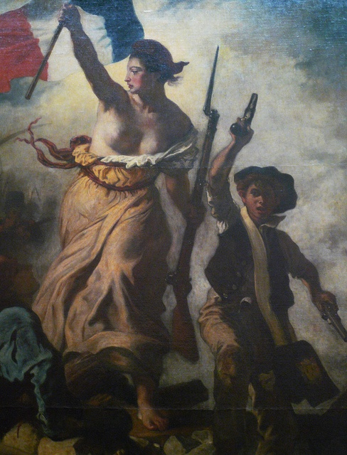 Eugène Delacroix, Liberty Leading the People, oil on canvas, 2.6 x 3.25m, 1830  (Musée du Louvre, Paris)