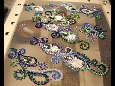 Авторская вышивка люневильским крючком от Виктории Бойко - YouTube