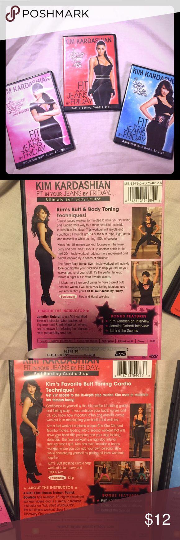 Kim Kardashian set of 3 workout DVD videos Kim Kardashian set of 3 workout DVD videos Other