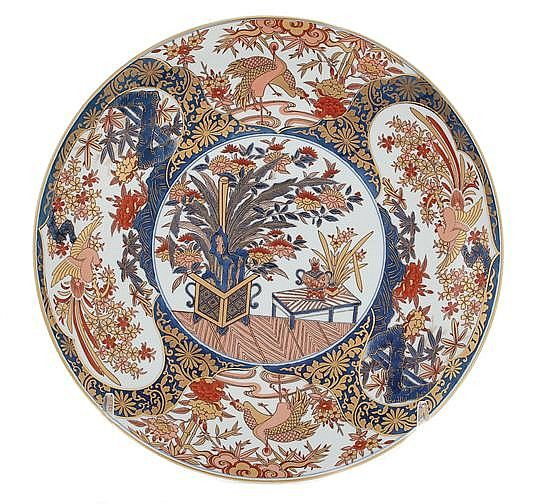 "Description: Japanese Imari porcelain charger Dia.18"".  Provenance: Atlanta, Georgia private collection"