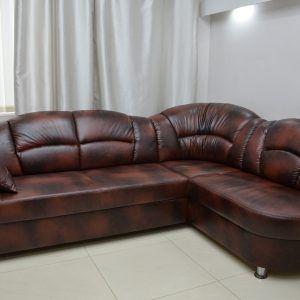 100 Real Leather Corner Sofa