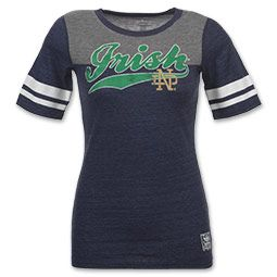 adidas Notre Dame Fighting Irish Varsity NCAA Women's Tee Shirt $28