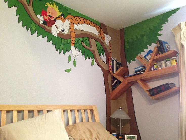 1000 ideas about playroom mural on pinterest playrooms for Calvin and hobbes bedroom mural
