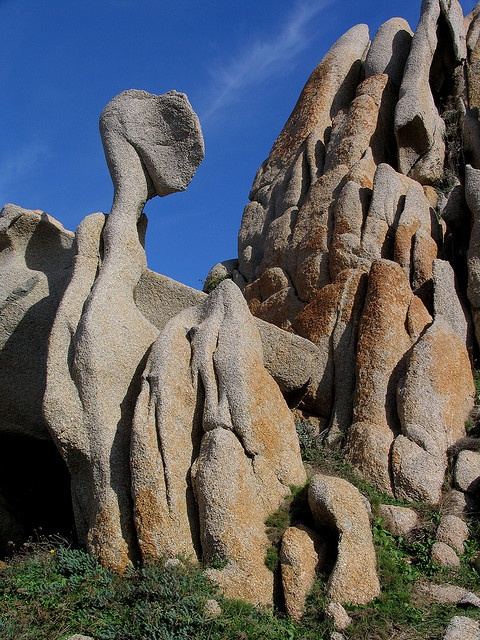 Beautiful rocks of Sardinia, Italy, Olbia Tempio , Capo Testa