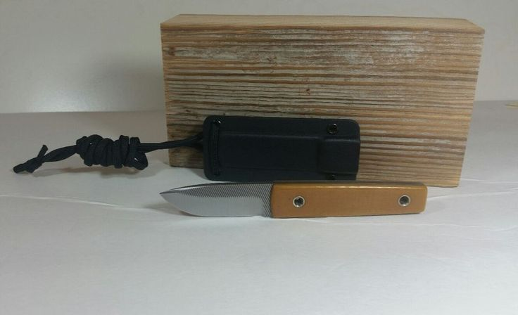New Original Michael Morris Custom File Neck Knife Closed Books Fixed Blade EDC #CustomMichaelMorris