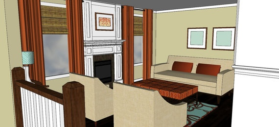 Burnt orange and turquoise living room design plans - Turquoise curtains for living room ...