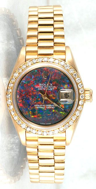 A Diamond And Opal Rolex Watch For Men <3