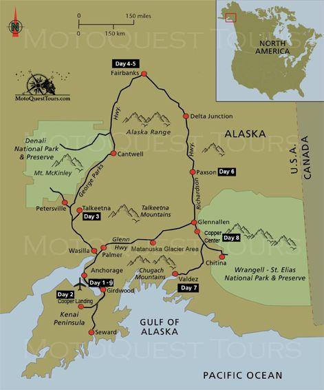 Best Best Of Alaska Motorcycle Adventure Images On Pinterest - Alaska tour