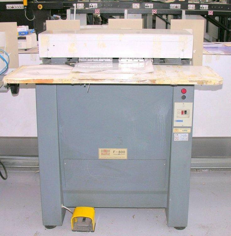 Macchina foratrice per calendari modello Rilecart R800 completa di due pettini perforatori
