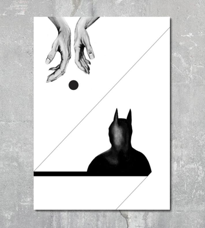 This digital print is made from an original illustration by Kathrine Luna. You can buy this piece at www.artrebels.com #artrebels #art #digitalprints #batman