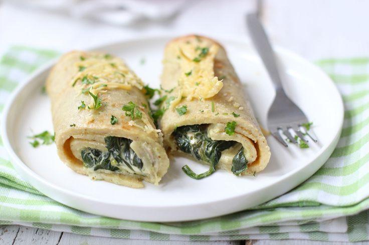Streekbox - hartige pannenkoeken met spinazie en pesto