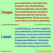 """Resultado de imagen de """"Using """"wish """"in English with images"""