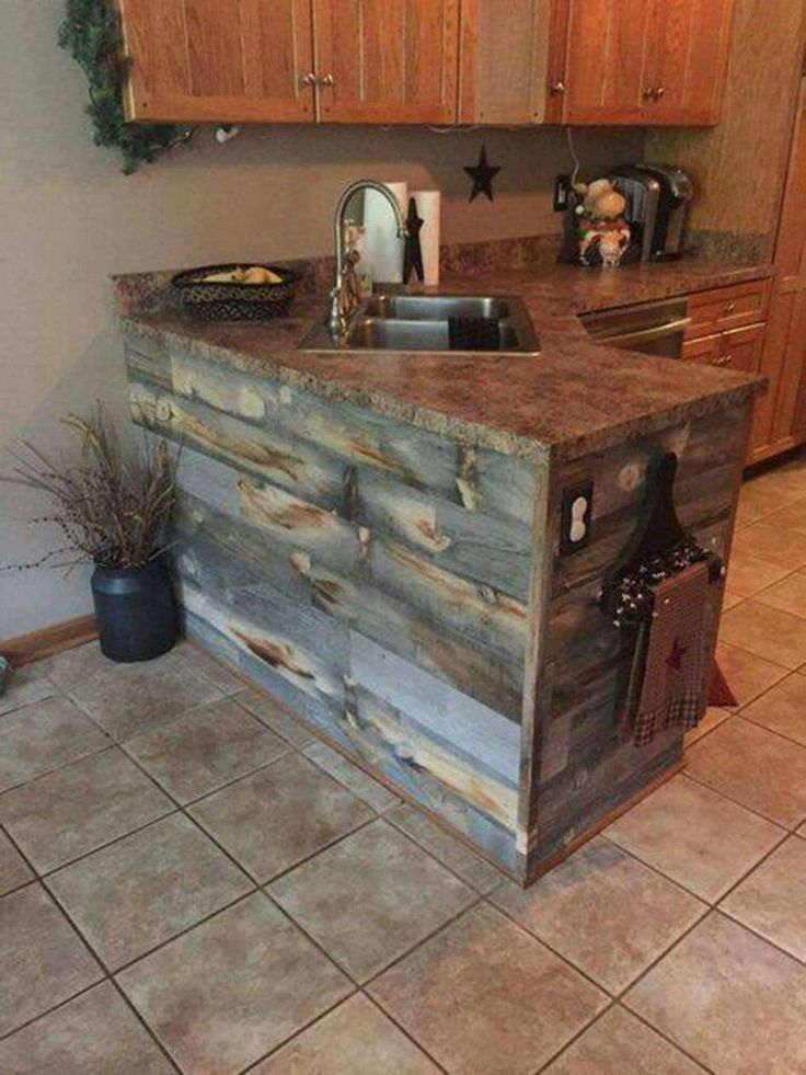 25 best ideas about pallet kitchen cabinets on pinterest rustic cabinet doors wood cabinets - Rustic wooden kitchen cabinet ...