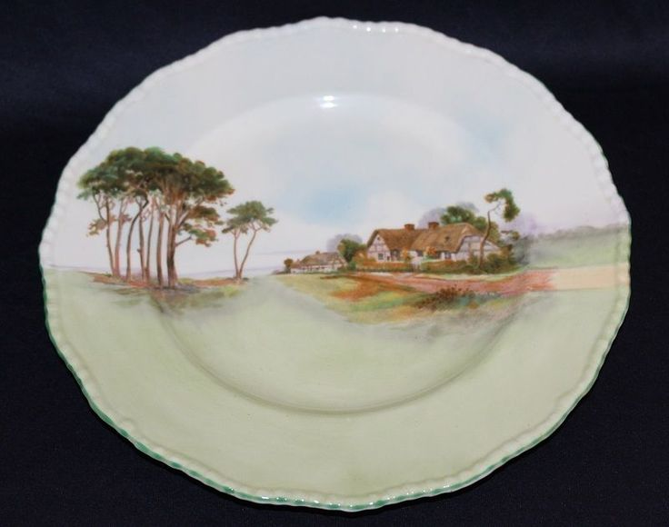 Large Vintage Royal Doulton Bone China Plate Lovely English Country Side Theme