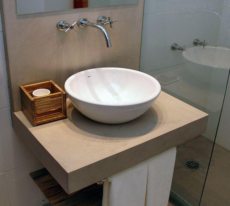 mesada cemento alisado baño - Buscar con Google