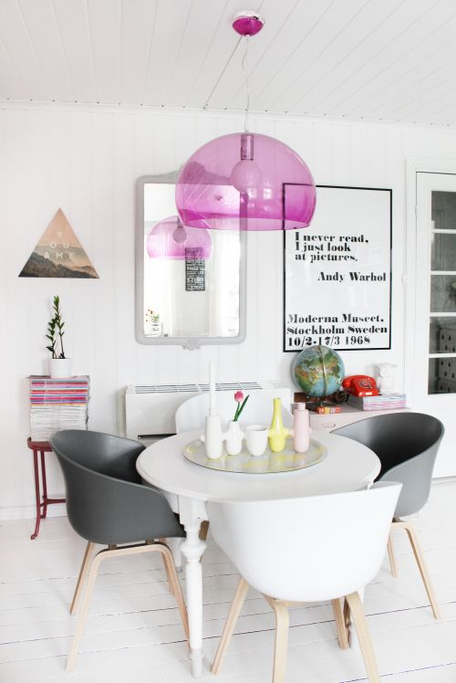 Dining room via Design Sponge. #Constrir es el #ARTE de CReAR Infraestructura... #CReOConstrucciones.
