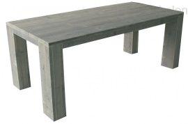 Eline  Binnen tafel van steigerhout met rechthoek poten (13x20cm) lxbxh 160x80x75cm  Is de tafel voor buiten bestemt. Dan zijn er ruimten van +/- 1cm tussen de planken. Dit is voor het uitzetten en krimpen van het tafelblad.