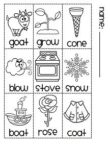 Printables O Sound Words 1000 images about long o on pinterest poem vowels and the sort to make cutest book oa sound ow e sound