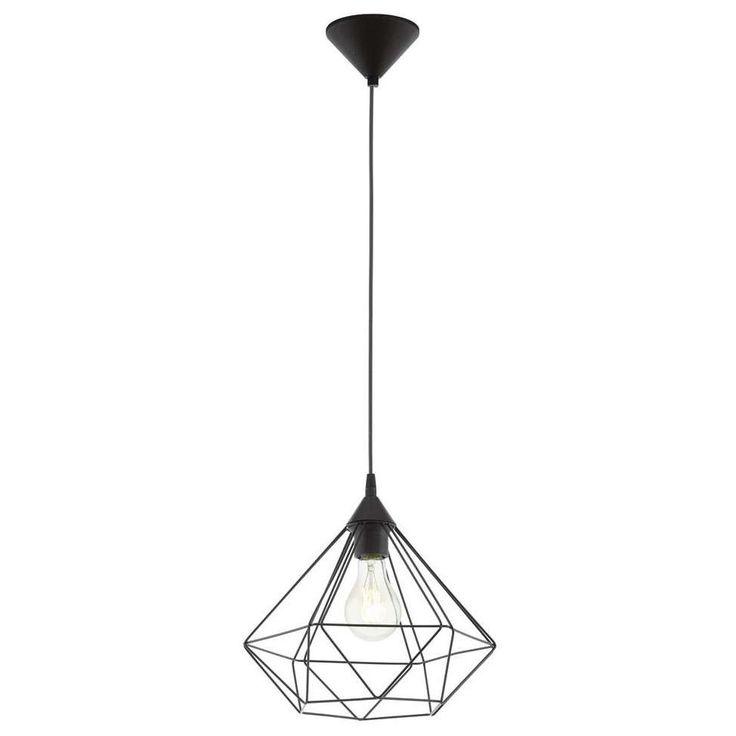 Industrialna LAMPA wisząca E94188 druciana OPRAWA zwis IP20 drut czarny