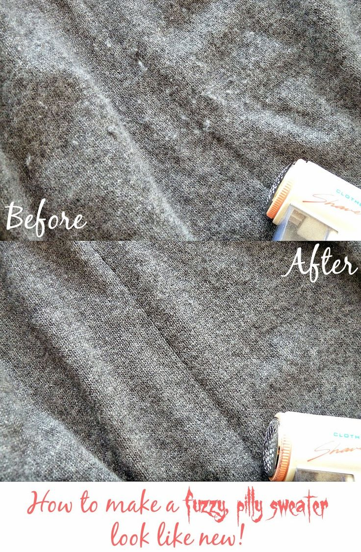 How to de-fuzz and de-pill a wool sweater to make it look brand new. #SaveMoney #Sweater #Cashmere #Hacking #Washing