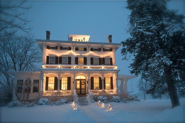 Some tasteful exterior lighting on a beautiful old home for Some beautiful houses