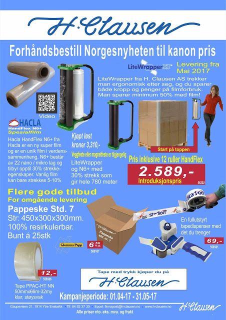 H. Clausen AS: Spesial håndstrekkfilm og spesial dispenser ny i N...