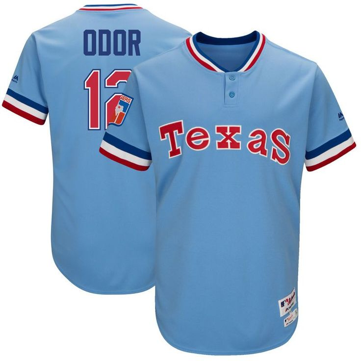 Rougned Odor Texas Rangers Majestic 1977 Turn Back the Clock Authentic Player Jersey - Light Blue