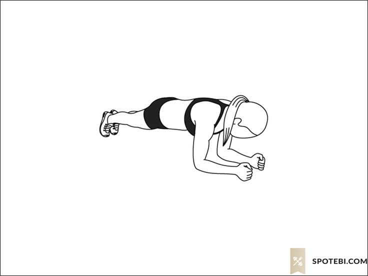Plank hip dips exercise guide with instructions, demonstration, calories burned and muscles worked. Learn proper form, discover all health benefits and choose a workout. https://www.spotebi.com/exercise-guide/plank-hip-dips/