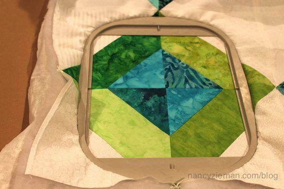 Here's how to use your embroidery machine as a quilting machine.