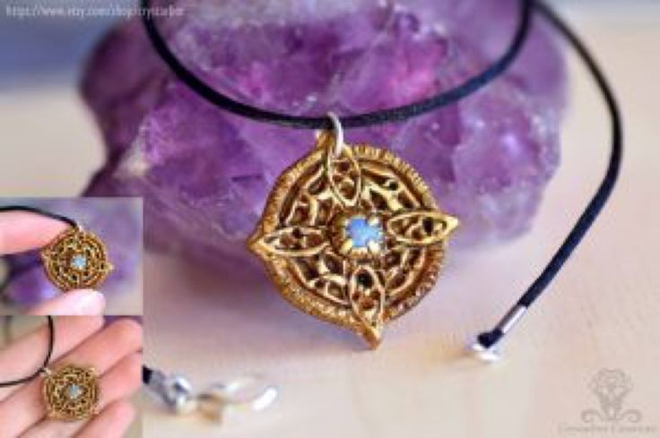 Amulet of Mara Skyrim necklace | Polymer clay by Crystarbor on @DeviantArt