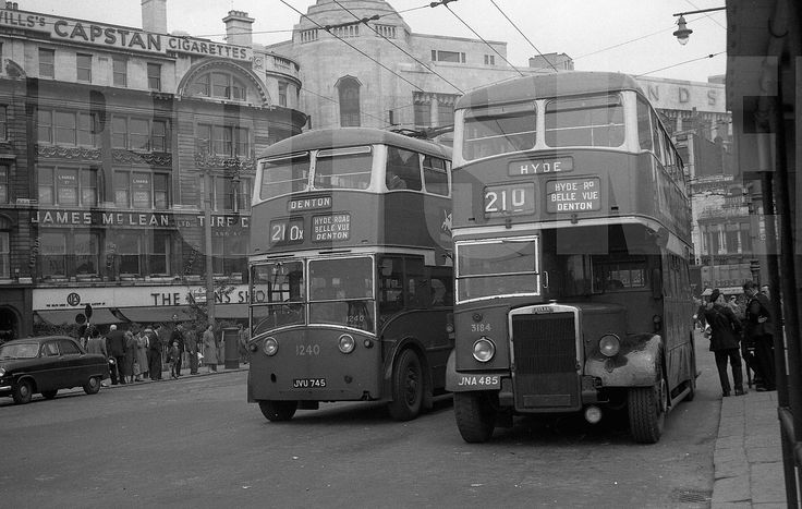 Larger Negative City of Manchester Transport Trolleybus 1240 JVU745 1950s | eBay