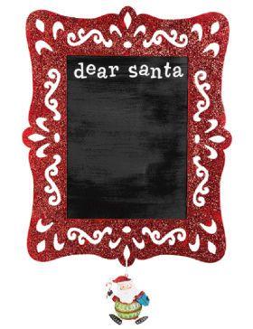 Dear Santa Red Glitter Laser-Cut Frame