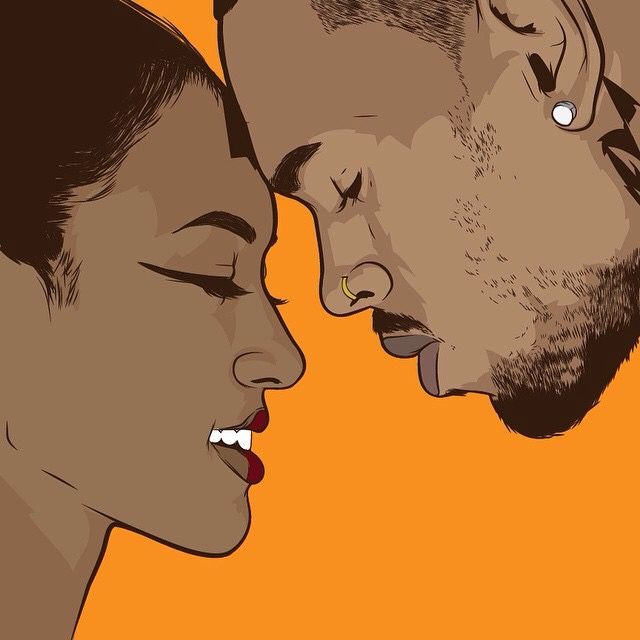 Karrueche Tran and Chris Brown | Art by Samona Lena info@scaredofmonsters.com http://scaredofmonsters.com http://instagram.com/ho3sz http://scaredofmonsters.tumblr.com/ https://society6.com/scaredofmonsters http://nabaroo.com/Samona/nabs