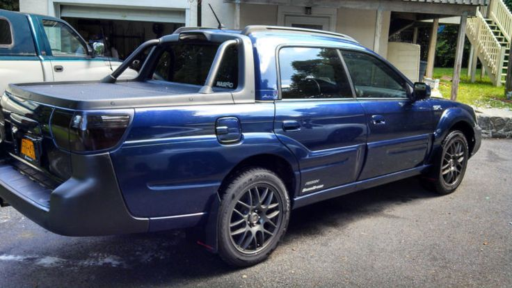 subaru baja blue - dream car