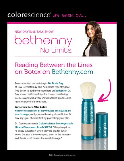 Bethenny TV Show - Colorescience pressed mineral cheek colore featured on Bethenny