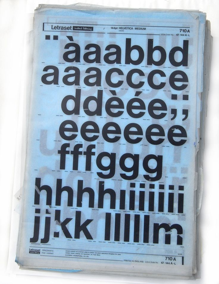 I have always liked how Letraset looked. Letraset   Editions of 100   Berg   + Letraset Instant Lettering   typetoken®