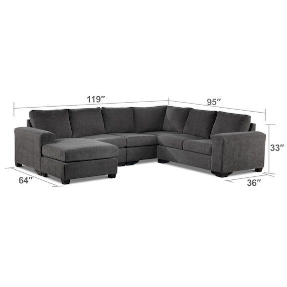 danielle sectionnel 3 mcx avec coin et fauteuil allonge a gauche gris pinterest corner living room furniture and living rooms