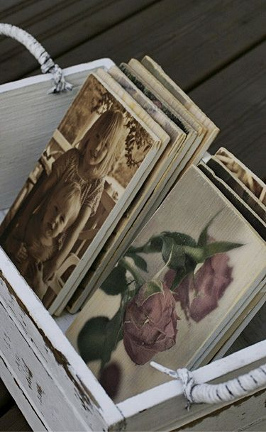 #Wooden #postcards, handmade from photos by Paulan korukauppa.