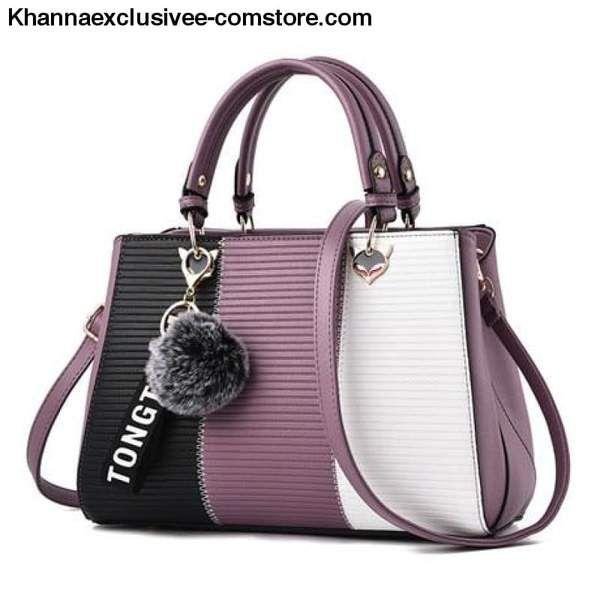 00798784c3d Contrast Color Luxury Women's Designer Shoulder Bag Leather Handbag ...