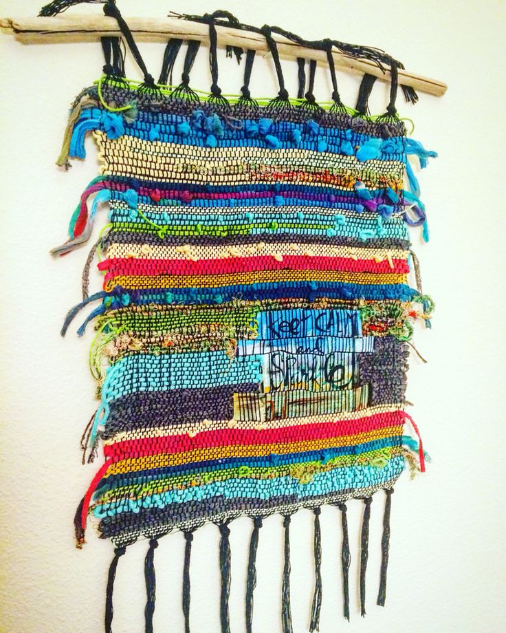 Keep Calm and Sparkle handwoven wall hanging